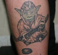 Yoda Ice Hockey tattoo
