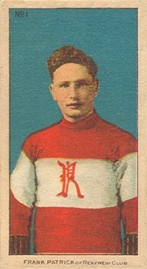 Frank Patrick - C56 - Imperial Tobacco - No1 - 1910  Hockey Card