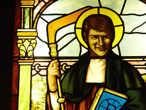 Bobby Orr as a Stained Glass Saint