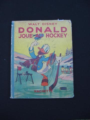 Walt Disney Ice Hockey Book 1941  Donald Duck in French