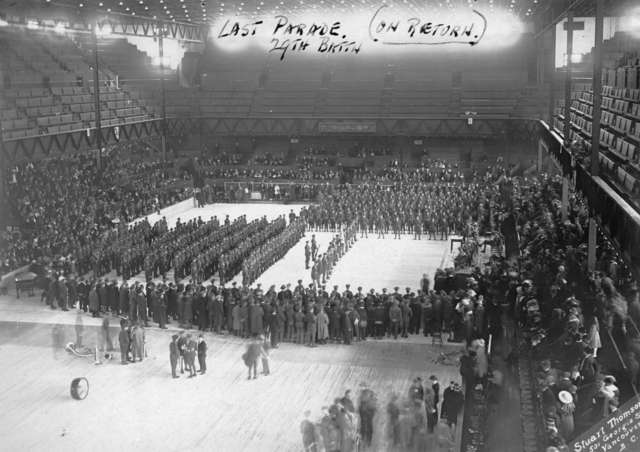 Denman Arena - Last Parade - 29th Battalion - May 24, 1919