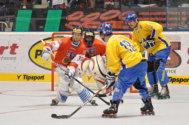 Inline Hockey at World Championships Sweden vs Czech Republic