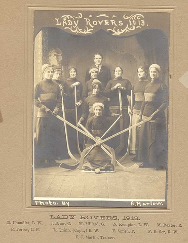 Womens Ice Hockey Champions 1913, Lady Rovers