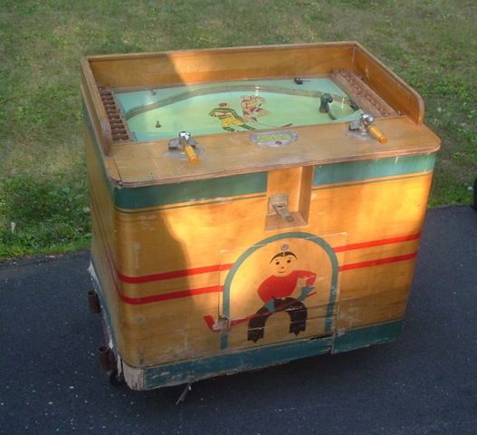 Arcade Table Top Hockey Game 1940s - Coin Operated