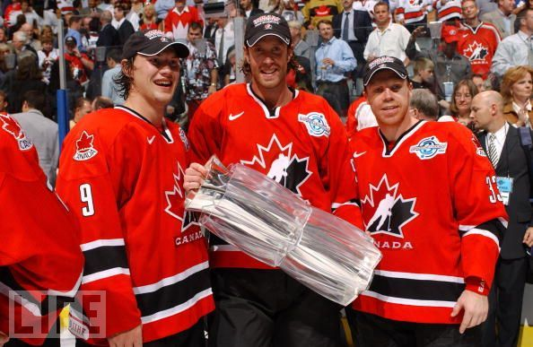Shane Doan, Joe Thornton, Kris Draper World Cup of Hockey Trophy