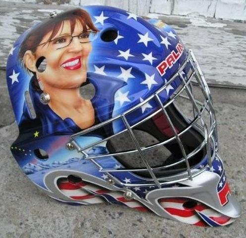 Sarah Palin Ice Hockey Goalie Mask