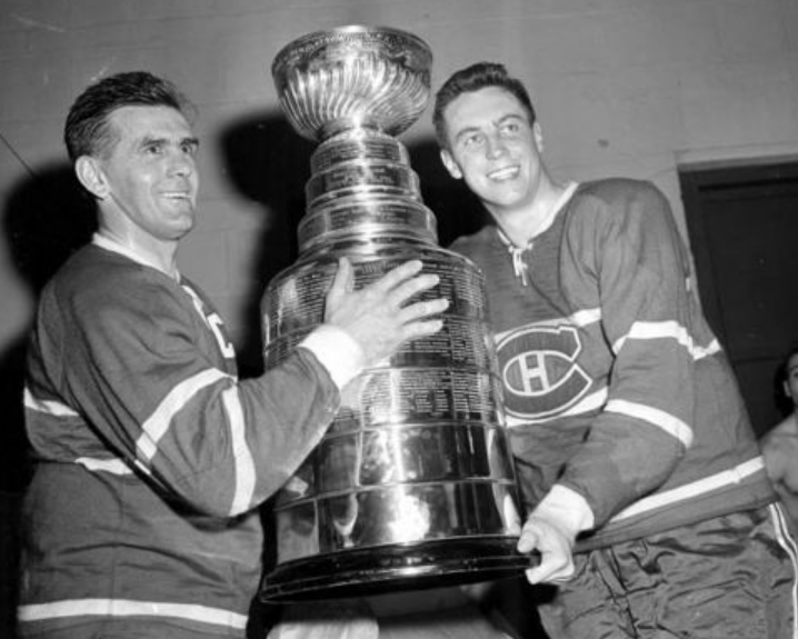 Maurice Richard Amp Jean Beliveau With The Original Stanley