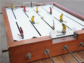 Antique Table Top Hockey Game