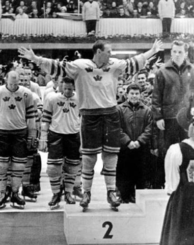 1964 photo of Sven Tumba of Team Sweden at Winter Olympics