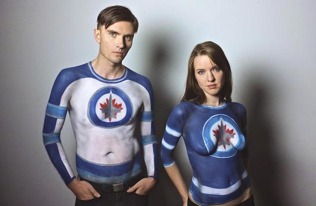 Winnipeg Jets airbrushed jerseys