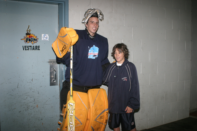 Fleury with the fans