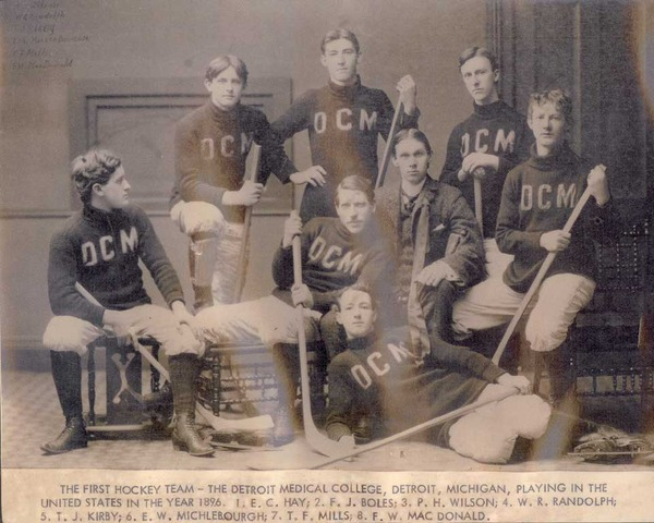 Detroit Medical College Ice Hockey Team 1896