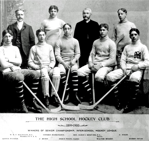 Lester Patrick and his High School Ice Hockey Team