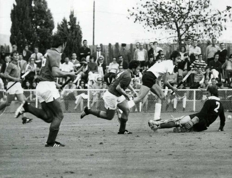Field Hockey Action At 1st Hockey World Cup 1971 In