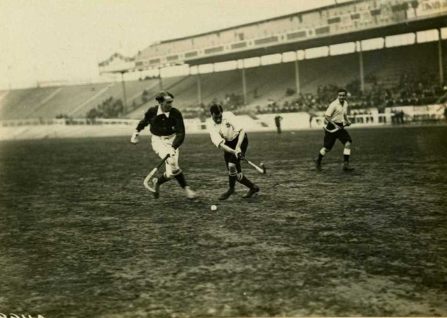 Olympic Games Hockey Action in 1908 London, England -3