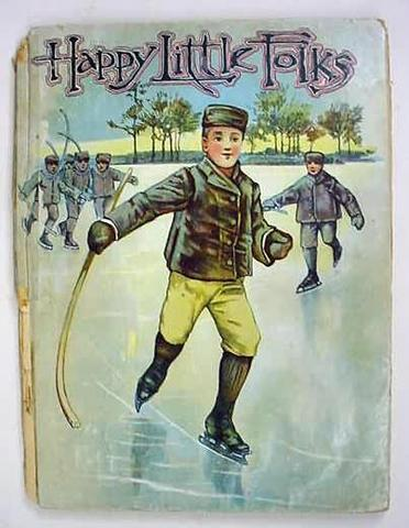 Happy Little Folks Book Cover with Ice Hockey Player