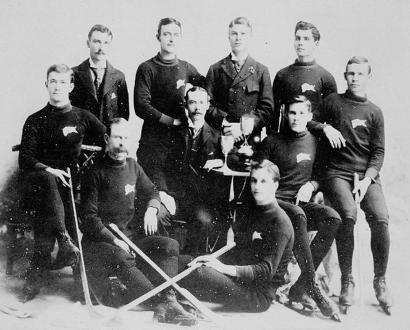 Winnipeg Victorias Ice Hockey Team in 1893