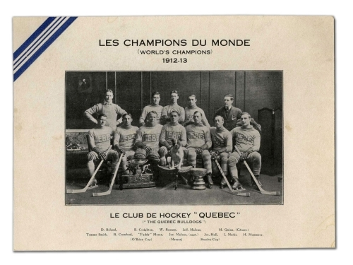 Quebec Bulldogs - Stanley Cup Champions 1912