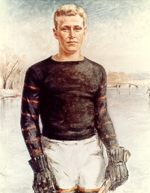 Hobey Baker Portrait by Peter Cook - 1937