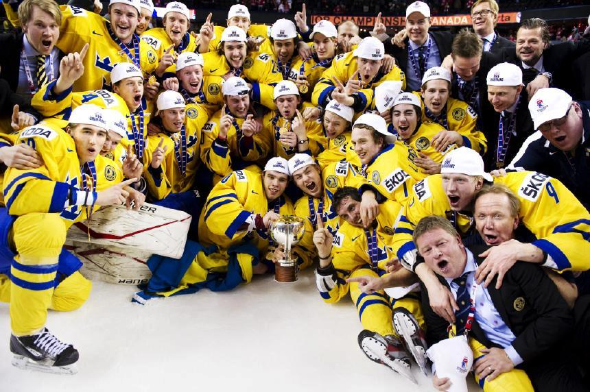 Sweden World Junior Ice Hockey Champions 2012 Hockeygods