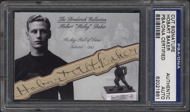 Hobey Baker Autographed Hockey Card