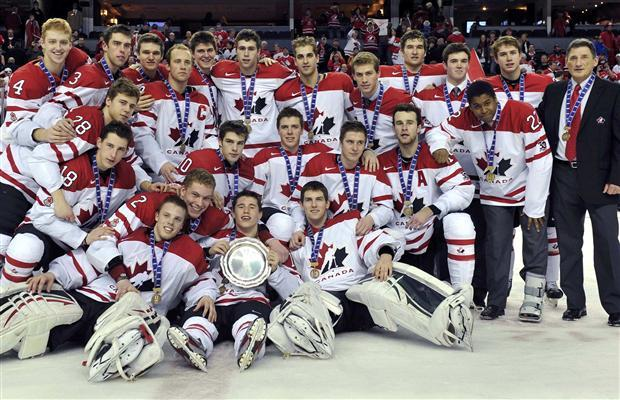 Team Canada Picture after Winning Bronze Medal