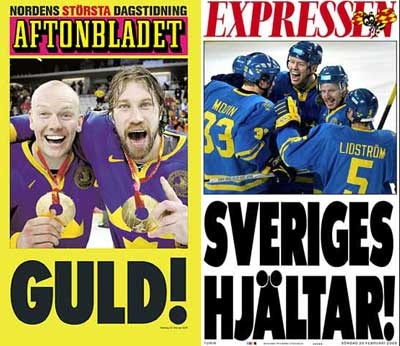Sweden Magazine Covers for Gold Medal