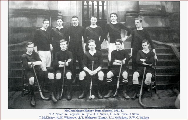 McCrea Magee Hockey Team 1911-12
