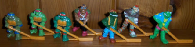 Table Top Hockey Players - Teenage Mutant Turtles