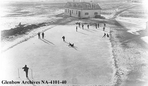 Outdoor Rink at Washakada Industrial School, Elkhorn, Manitoba