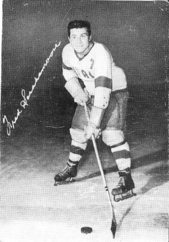 Fred Sasakamoose in 1953-54 with the New Westminster Royals