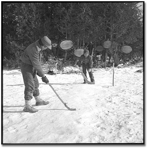 Moose Factory First Nations - Boys Playing Hockey
