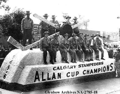 Allan Cup Champion Calgary Stampeders during Celebration Parade