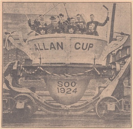 Sault Ste Marie Greyhounds in Allan Cup Parade 1924