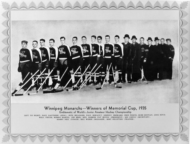 Winnipeg Monarchs - Memorial Cup Champions 1935