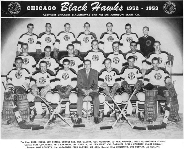 Chicago Blackhawks Team Photo 1952-53