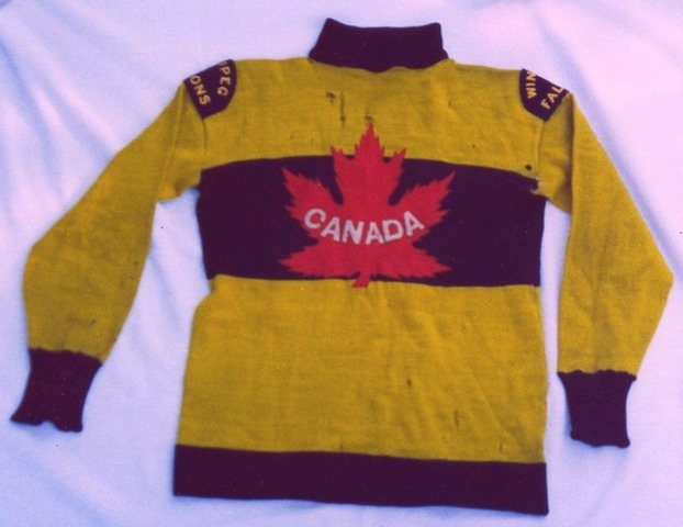 Winnipeg Falcons Team Canada Jersey for Olympic Games in 1920