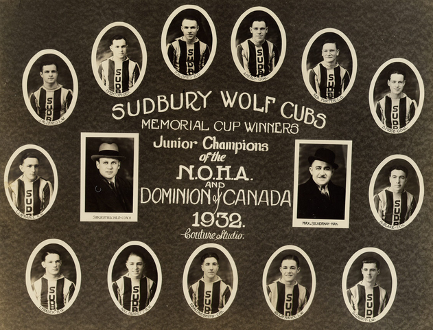 Sudbury Wolf Cubs - Memorial Cup Champions 1932