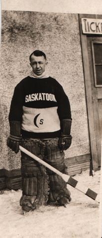 George Hainsworth played Goal with the Saskatoon Crescents