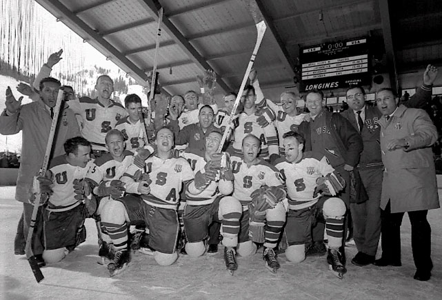 1960 Winter Olympics Hockey Champions Team Usa Squaw
