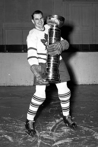 Syl Apps With His Friend - The Original Stanley Cup