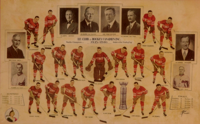 Montreal Canadiens - Stanley Cup Champions 1946