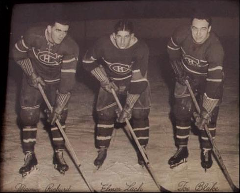 Montreal Canadiens Famous Punch Line - Richard , Lach & Blake