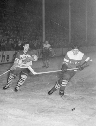 Penticton Vees Team Canada Vs Soviet Union In 1955