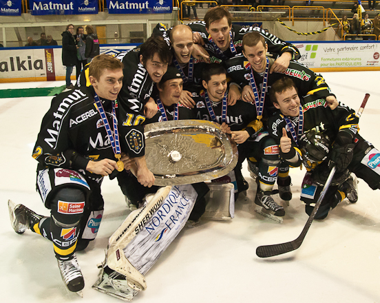 Rouen Dragons With The Continental Cup Plate & Gold Medals 2012