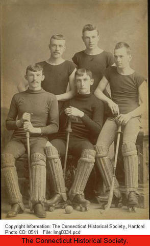 Roller Polo Team From Hartford, Connecticut - circa 1880