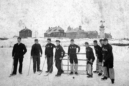 The Storrs Agricultural School Ice Polo Team - 1890-91
