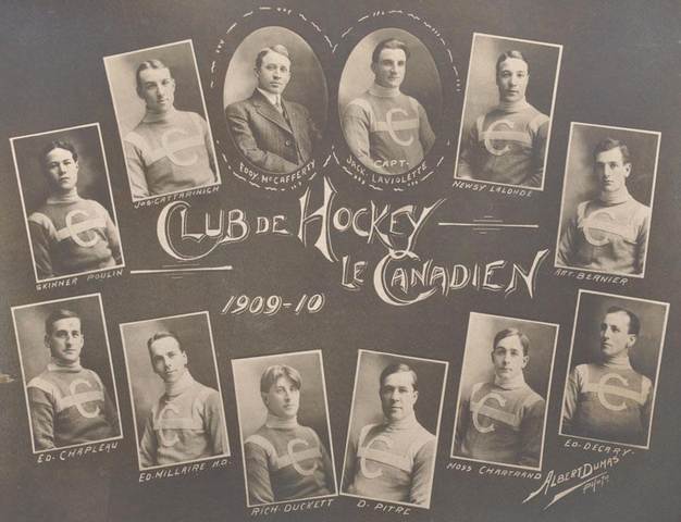 1st Montreal Canadiens Team - Club De Hockey Le Canadien