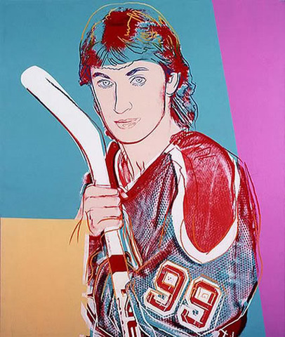 Andy Warhol Painting of Wayne Gretzky - 1984 -c
