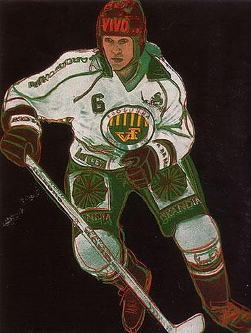Andy Warhol Painting of Christer Kellgren, Frölunda HC - 1986